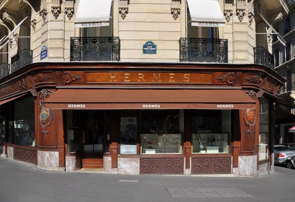 Hermès Store in Paris city centre.