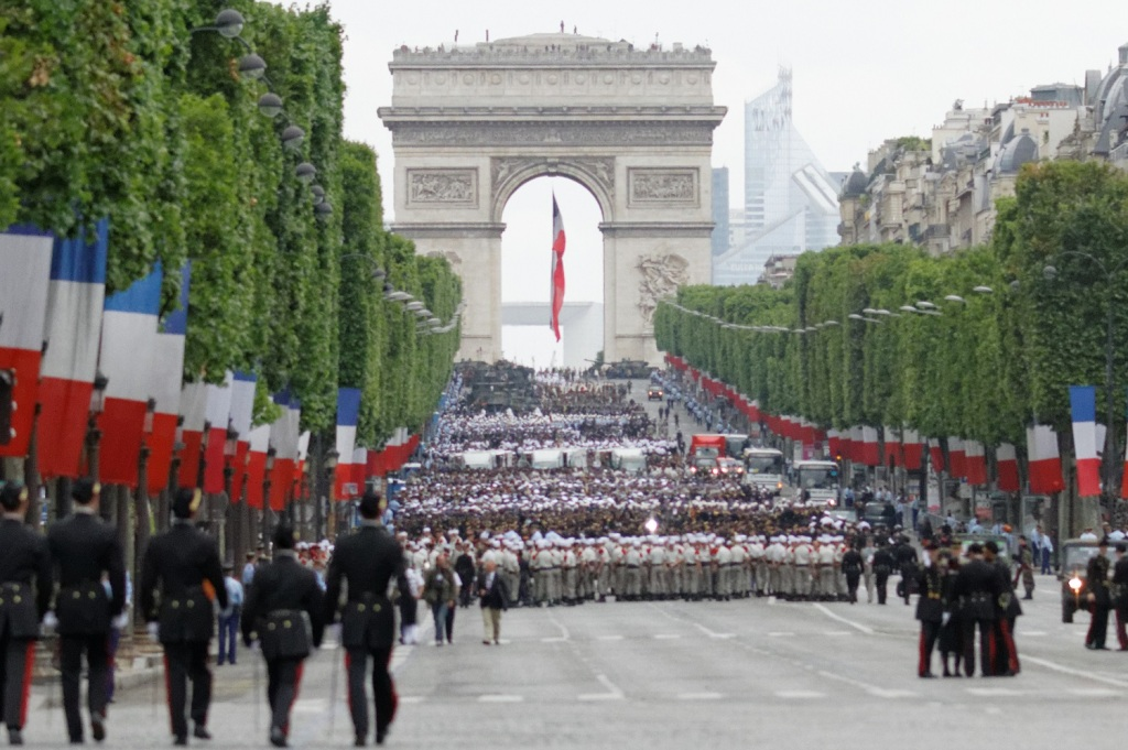 Military parade for Bastille Day on Champs Elysees