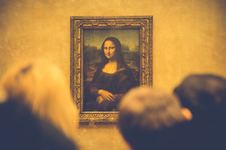 The Mona Lisa by Leonardo da Vinci in the Louvre Museum